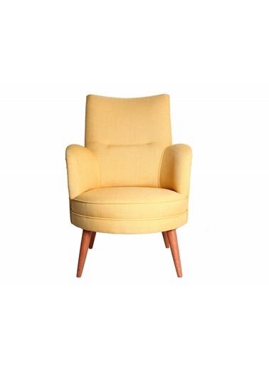 Ze10 Design Victoria Tekli Koltuk Sarı Sarı